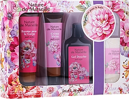 """Voňavky, Parfémy, kozmetika Sada """"Anglická záhrada"""" - Nature de Marseille (b/balm/100ml + h/cr/60ml + show gel/150ml + soap/95g)"""