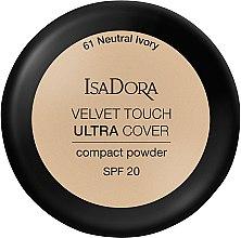 Voňavky, Parfémy, kozmetika Púder na tvár - IsaDora Velvet Touch Ultra Cover Compact Powder SPF 20 (61 -Neutral Ivory)