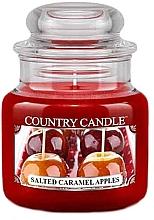 Voňavky, Parfémy, kozmetika Vonná sviečka v pohári - Country Candle Salted Caramel Apples