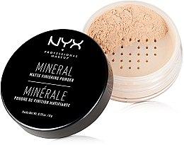 Voňavky, Parfémy, kozmetika Minerálny dokončovací prášok - NYX Professional Makeup Mineral Matte Finishing Powder