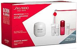Voňavky, Parfémy, kozmetika Sada - Shiseido Essential Energy (cr/50ml + foam/5ml + softener/7ml + conc/10ml + eye/cr/5ml + bag/1)