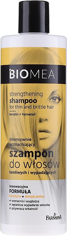 Posilňujúci šampón pre krehké a vypadávajúce vlasy - Farmona Biomea Strengthening Shampoo
