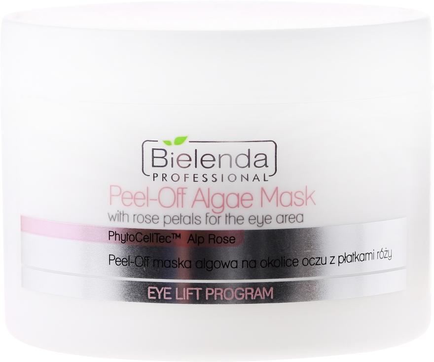 Alginátová maska s okvetnými lístkami ruží pre oblasť očí - Bielenda Professional Eye Lift Program Peel-Off Algae Mask