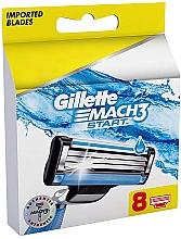 Voňavky, Parfémy, kozmetika Náhradné holiace kazety, 8ks - Gillette Mach3 Start