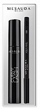 Voňavky, Parfémy, kozmetika Sada - Mesauda Milano Curvy Lash (mascara/13ml + eye/p/1.4g)