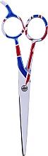 Voňavky, Parfémy, kozmetika Kadernícke nožnice, 5.5cm - Ronney Professional White Flag London