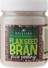 Voňavky, Parfémy, kozmetika Tvárový peeling s ľanovými otrubami - Hristina Cosmetics Flax Seed Bran Face Peeling
