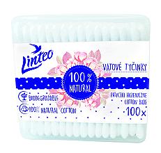 Voňavky, Parfémy, kozmetika Vatové tyčinky, 100 ks. - Linteo Biodegradalne 100% Natural