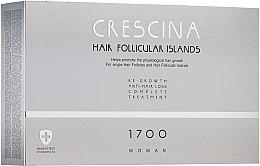 Voňavky, Parfémy, kozmetika Komplex proti vypadávaniu vlasov pre žien - Crescina Hair Follicular IslandRe-Growth+Anti-Hair Loss HFI 1700 Woman