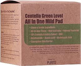 Voňavky, Parfémy, kozmetika Hydratačné tampóny na čistenie pokožky s pupočníkom - Purito Centella Green Level All In One Mild Pad