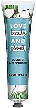 """Voňavky, Parfémy, kozmetika Zubná pasta """"Kokos a mäta"""" - Love Beauty And Planet Coconut & Peppermint Toothpaste"""