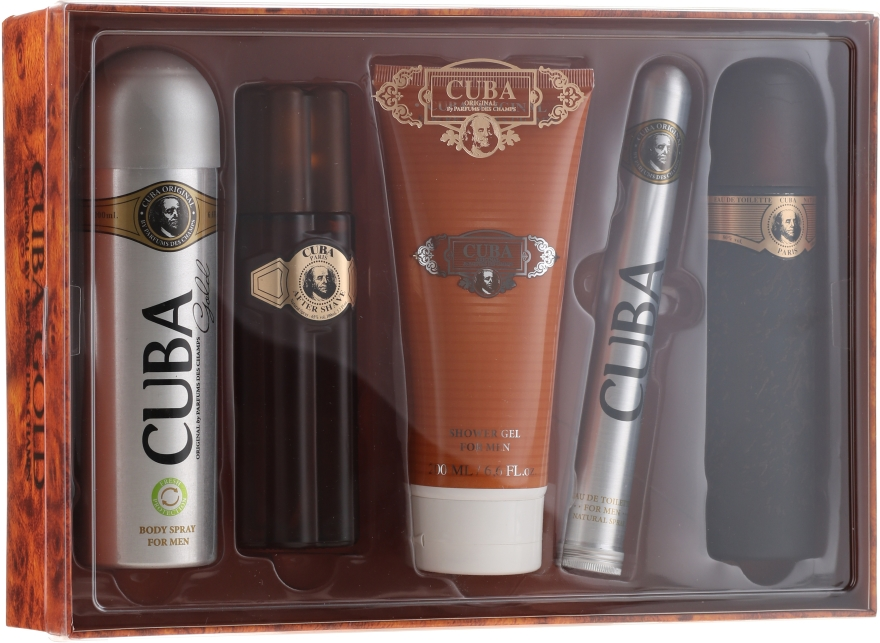 Cuba Gold - Sada (edt/100ml + deo/200ml + ash/balm/100ml + sh/gel/200ml + edt/35ml)