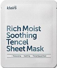 Voňavky, Parfémy, kozmetika Hydaratačná látková maska - Klairs Rich Moist Soothing Tencel Sheet Mask