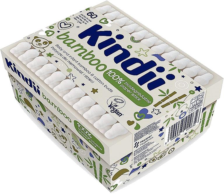 Vatové tyčinky pre babätká a deti - Kindii Bamboo Cotton Buds