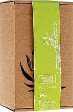 "Voňavky, Parfémy, kozmetika Sada ""Bambus"" - Nature Queen(peel/250g+b/butter/150ml+b/lotion/200ml)"