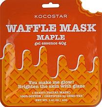 """Voňavky, Parfémy, kozmetika Omladzujúca vaflová maska """"Javorový sirup"""" - Kocostar Maple Waffle Mask"""