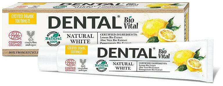 """Zubná pasta """"Prirodzená belosť"""" - Dental Bio Vital Natural White Toothpaste"""