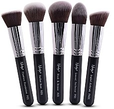 Voňavky, Parfémy, kozmetika Súprava kefiek - Nanshy Face Brush Set Black (Brush/5ks)