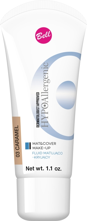 Sametová tonálna tekutina - Bell HypoAllergenic Mat&Cover Make-Up