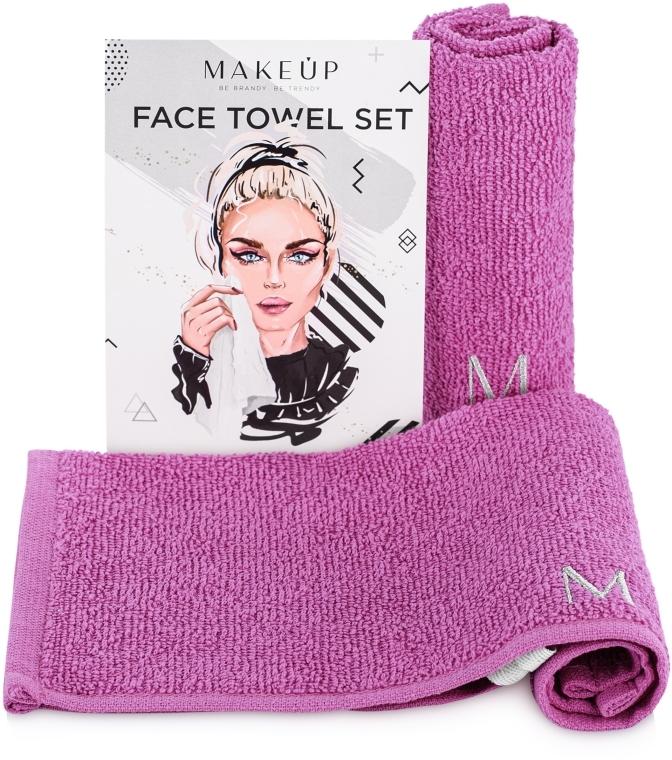"""Cestovná sada uterákov na tvár, fialové """"MakeTravel"""" - Makeup Face Towel Set"""