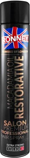 Lak na vlasy - Ronney Macadamia Oil Restorative Hair Spray