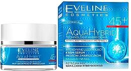 Voňavky, Parfémy, kozmetika Intenzívne spevňujúce sérum proti vráskam - Eveline Cosmetics Aqua Hybrid Cream-Serum 45+