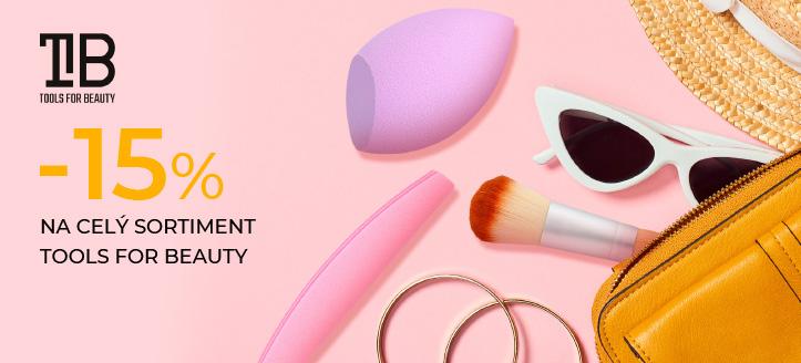 Zľava 15% na celý sortiment Tools For Beauty. Ceny na webovej stránke sú uvedené so zľavou