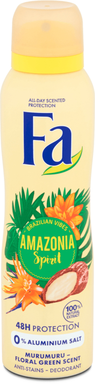 "Dezodorant v spreji ""Rytmy Brazílii"" - Fa Amazonia Spirit Deo Spray"