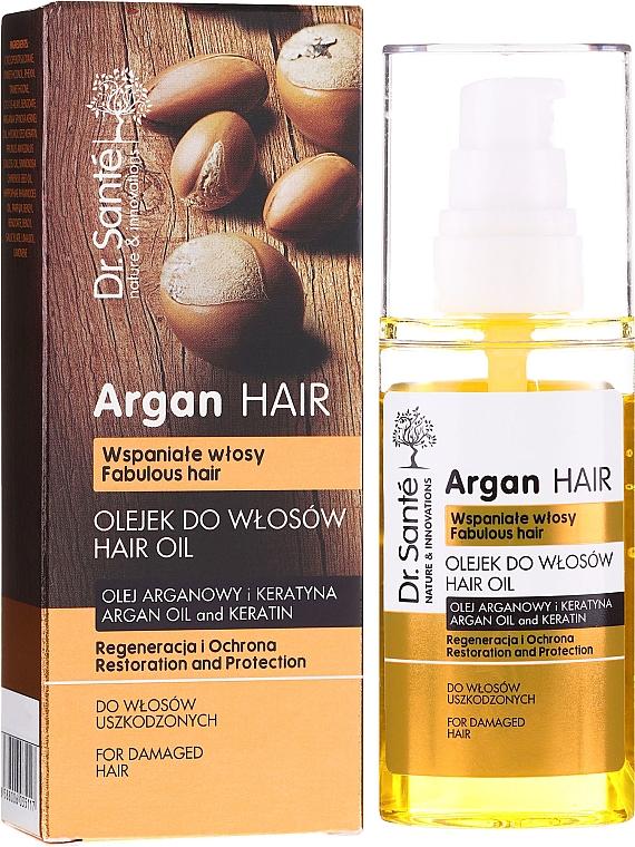 """Olej na vlasy """"Regenerácia a ochrana"""" s arganovým olejom a keratínom - Dr. Sante Argan Hair"""