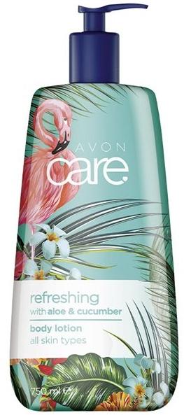 Uspokojujúci a zvlhčujúci lotion s aloe a uhorkou - Avon Care Refreshing With Aloe&Cucumber Body Lotion — Obrázky N1