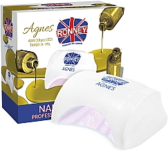 Voňavky, Parfémy, kozmetika Lampa na nechty LED, biela - Ronney Profesional Agnes LED 48W (GY-LED-032)
