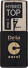Voňavky, Parfémy, kozmetika Vrchové pokrytie - Delia Coral Hybrid Top Coat Gel
