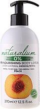 """Voňavky, Parfémy, kozmetika Telový krém výživný """"Marhuľa"""" - Naturalium Body Lotion Peach"""