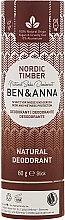 """Voňavky, Parfémy, kozmetika Dezodorant na báze sódy """"Northern Forest"""" (kartón) - Ben & Anna Natural Soda Deodorant Paper Tube Nordic Timber"""