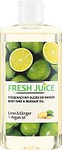 """Voňavky, Parfémy, kozmetika Olej na starostlivosť a masáž """"Limetka a zázvor + arganový olej"""" - Fresh Juice Energy Lime&Ginger+Argan Oil"""