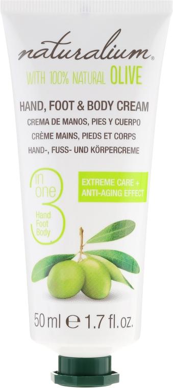 Krém na ruky, nohy a telo s olivovým olejom - Naturalium Hand, Foot & Body Cream