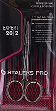 Voňavky, Parfémy, kozmetika Profesionálne nožnice na nechtovú kožičku, SE-20/2 - Staleks Pro Expert