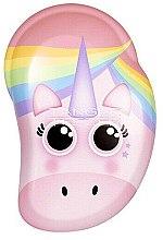 Voňavky, Parfémy, kozmetika Detská kefa na vlasy - Tangle Teezer The Original Mini Children Detangling Hairbrush Rainbow The Unicorn