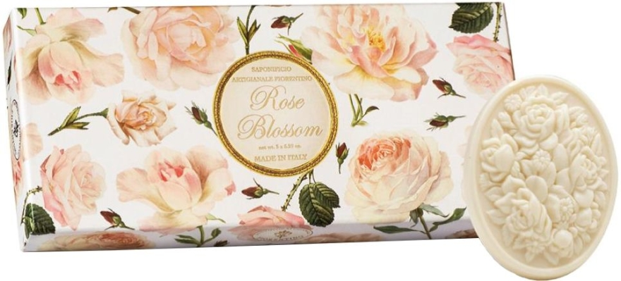 "Súprava toaletného mydla ""Ruža"" - Saponificio Artigianale Fiorentino Rose Blossom (Soap/3x125g)"
