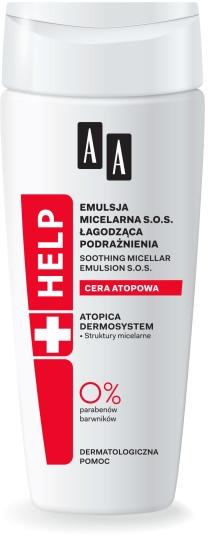 Upokojujúca micelárna emulzia na tvár - AA Cosmetics Help Soothing Micellar Emulsion SOS Atopic Skin — Obrázky N1