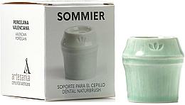 Voňavky, Parfémy, kozmetika Stojan na zubnú kefku, zelený - NaturBrush Sommier Toothbrush Holder