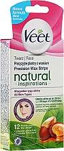 Voňavky, Parfémy, kozmetika Voskové pásiky na depiláciu tváre s arganovým olejom - Veet Natural Inspirations Face Wax Strips