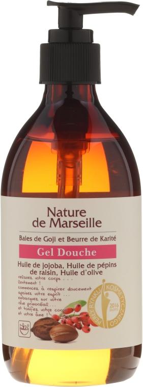 Sprchový gél s vôňou bobúľ goji a bambuckého masla - Nature de Marseille Goji&Shea Butter Shower Gel