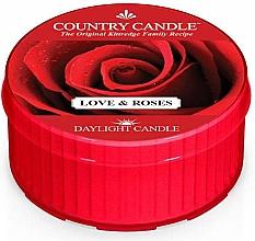 """Voňavky, Parfémy, kozmetika Čajová sviečka """"Láska a ruže"""" - Country Candle Love & Roses Daylight"""