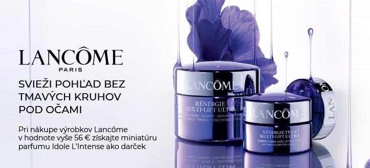 Pri nákupe výrobkov Lancôme v hodnote vyše 56 € získaj miniatúru parfumu Idole L'Intense ako darček