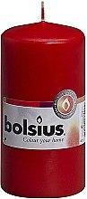 Voňavky, Parfémy, kozmetika Sviečka valcovitá, červená, 120x60 mm - Bolsius Candle