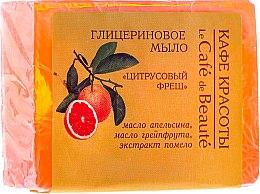 """Voňavky, Parfémy, kozmetika Glycerínové mydlo """"Citrusový fresh"""" - Le Cafe de Beaute Glycerin Soap"""