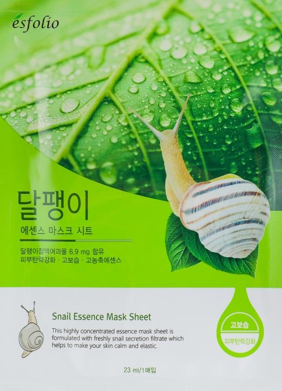 Textilná maska s extraktom zo slimačieho slizu - Esfolio Snail Essence Mask Sheet