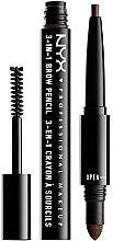 Voňavky, Parfémy, kozmetika Multifunkčná ceruzka na obočie - NYX Professional Makeup Cosmetics 3-in1 Brow Pencil