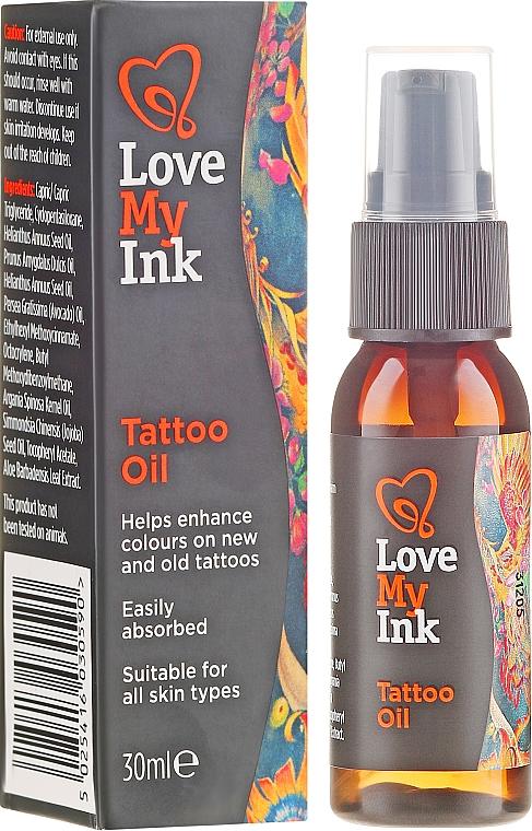 Olej pre starostlivosť o tetovanie - Love My Ink Tattoo Oil